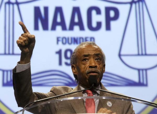 Al Sharpton speaks at the NAACP national convention is being held this year in Orlando. July 17, 2013