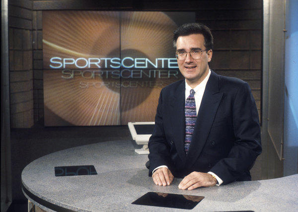 Keith Olbermann proves you can go home again. Photo from 1996.