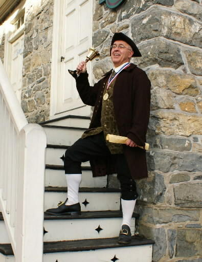 Easton's town crier, David Rose, will compete at the town crier world championships in Kingston, Canada.