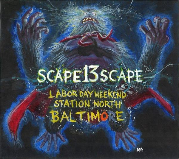 Scapescape 2013 will take place in Station North over Labor Day weekend.