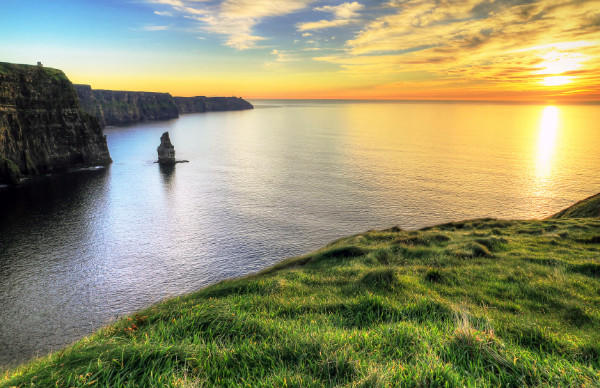 The Cliffs of Moher are among the scenic highlights of a chauffeur-driven vacation in Ireland offered by Sceptre Tours.