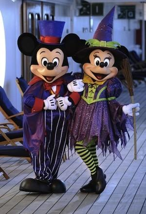 Mickey, Minnie and other Disney characters will be in costume on the new Halloween on the High Seas cruises starting in late September.