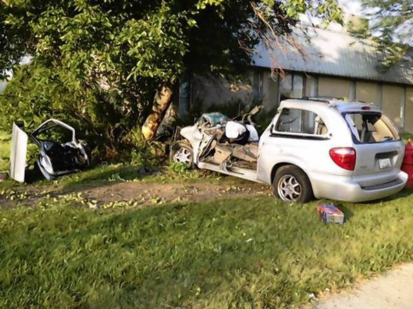 A 19-year-old Chicago man crashed his mini van into a tree in Northbrook around 5 a.m. on July 17.