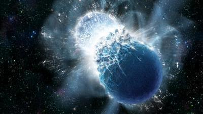 Eureka! Gold in universe forged by dead, crashing neutron stars