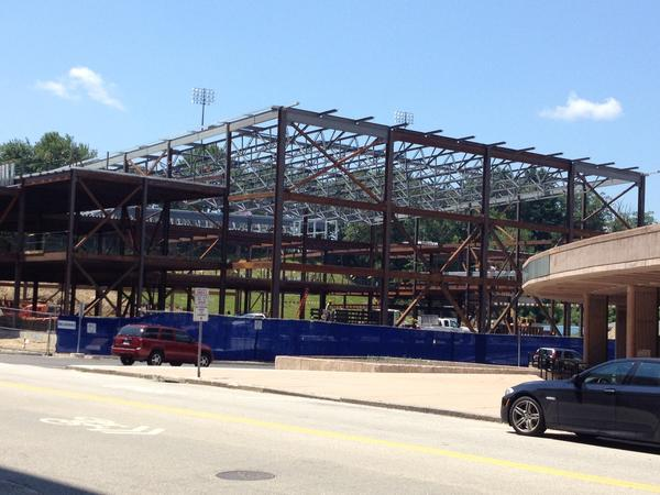 The training facility at UConn is coming along.