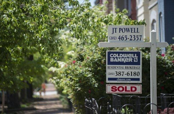 Home prices rose sharply in the largest U.S. cities in May, an index showed. Above, a Washington, D.C., home that was sold earlier this year.