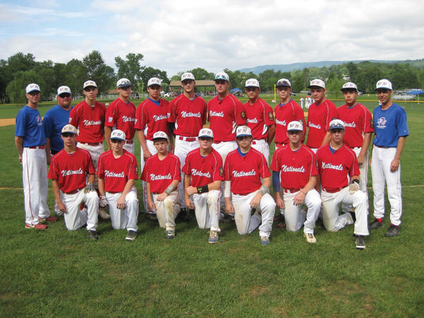 The Williamsport Nationals junior legion baseball team will play in the Continental Amateur Baseball Association World Series beginning Friday in Euclid, Ohio. Front row, from left to right: Sinjin Shoop, Zack Andrews, Bryce Byers, Colby Byers, Hunter Maloy, Airin Martin and Tim Davidson. Back row: Coach Duane Myers, Coach Marc Bluma, James Shifler, Colin Everett, Cody Reifel,Wyatt Scriever, Sloane Bendell, Jeremiah Younker, Luke Harsh, Chase Eichelberger, Blake Harne and Manager David Clugston.