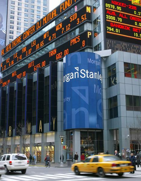 The exterior of Morgan Stanley Group Inc. headquarters in New York.