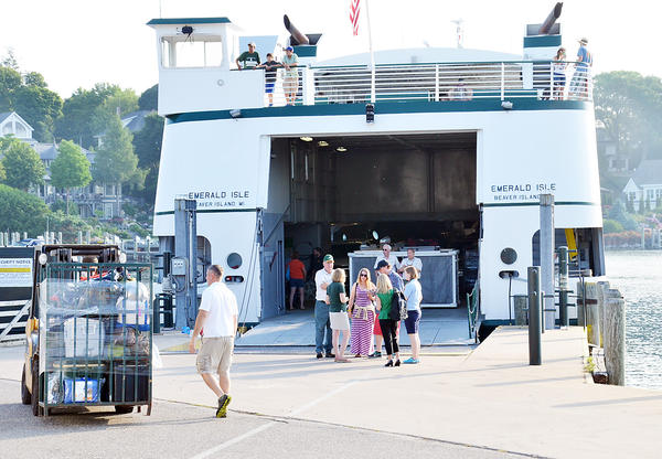 It was back to business as usual for Beaver Island Boat Company customers and crew at the company's dock in Charlevoix Thursday as the Beaver Island ferry Emerald Isle returned to service have being sidelined since June 25 by an engine failure.