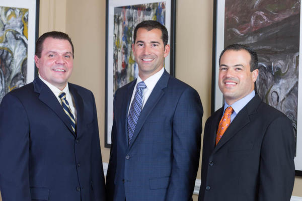 From left: Joe M. Grant, Ruben Socarras, Adam Marshall merged law firms to form Marshall Socarras Grant PL in Boca Raton