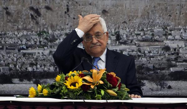 Palestinian Authority President Mahmoud Abbas presiding over a meeting Thursday in the West Bank town of Ramallah to discuss a U.S. proposal to restart peace talks with Israel.