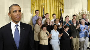 Obama touts savings from healthcare law