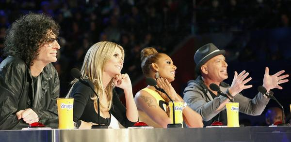 """America's Got Talent"" judges Howard Stern, Heidi Klum, Mel B. and Howie Mandel"