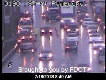 An image from Florida Department of Transportation at 8:40 a.m. Thursday.