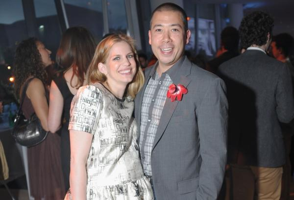 Anna Chlumsky and husband