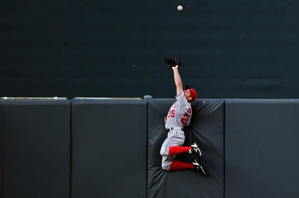 Peter Bourjos' return to the Angels outfield will be delayed.