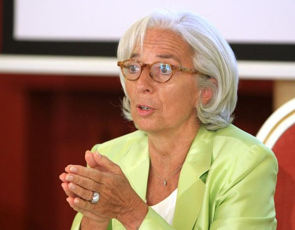 Christine Lagarde, managing director of International Monetary Fund, may ask the U.S. Supreme Court to hear a case over Argentina's debt.