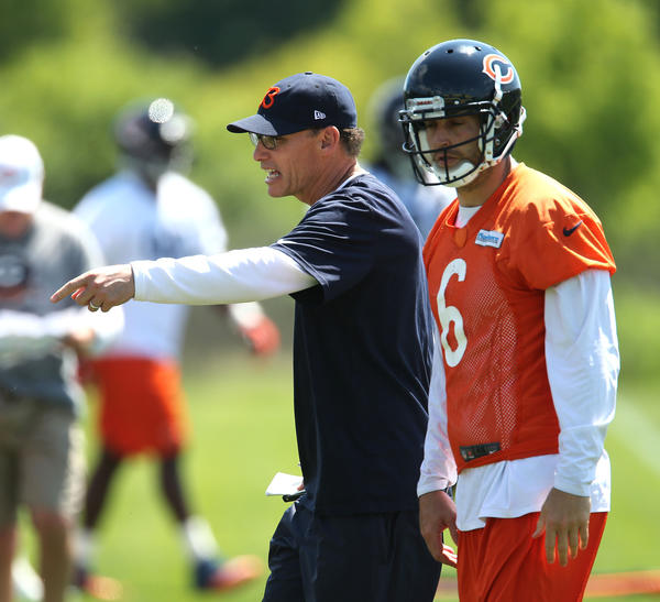 Bears coach Marc Trestman and QB Jay Cutler.