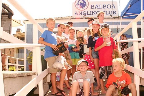 Participants in the 2013 Balboa Angling Club Junior Program.