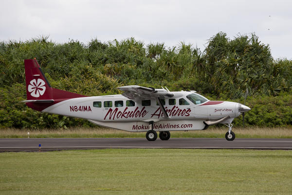 Island-hopping Cessna Grand Caravans are capable of carrying nine passengers.