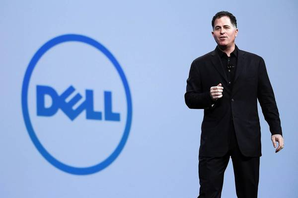 A buyout offer by Michael Dell, founder and CEO of Dell Inc., and investment firm Silver Lake faces a competing offer by billionaire activist investor Carl Icahn and Southeastern Asset Management Inc. Above, Dell speaks during the Oracle OpenWorld conference in San Francisco.