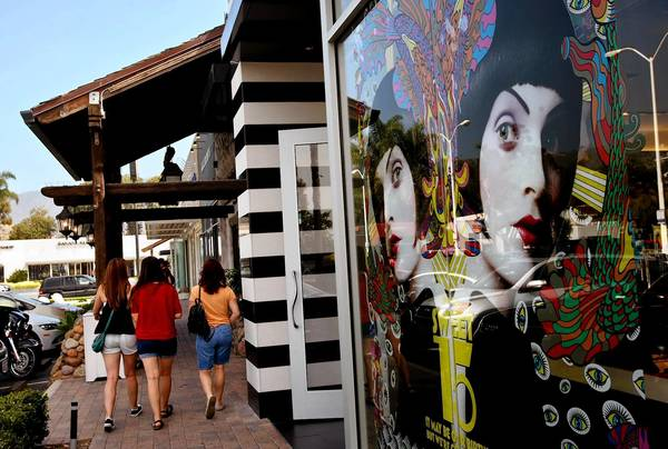 Shoppers stroll past a Sephora cosmetics store, which used to be a ballet studio. The influx of upscale chains is upsetting some longtime Malibu residents.