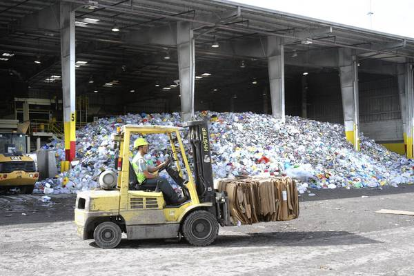 Recycling processing center at Orange County's landfill.
