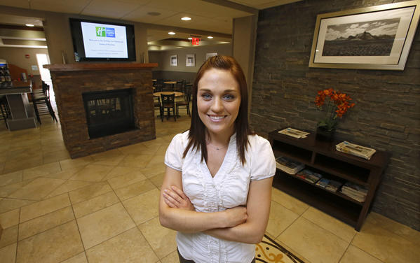Heather Correll, manager of the Holiday Inn Express & Suites.