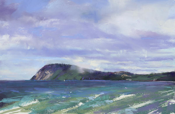 The Winds of Northern Michigan by Heidi Amenda Marshall is among the plein air pieces on display at Three Pines Studio in Cross Village.