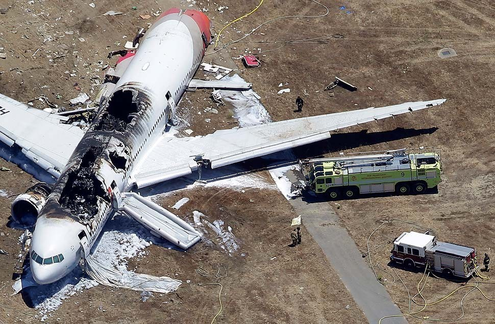 Asiana Airlines Jet Crashes At San Francisco International