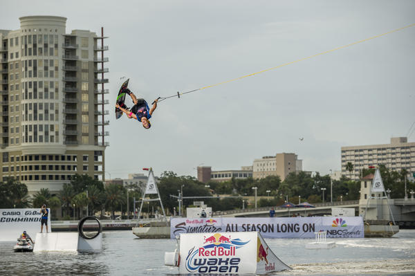 Steel Lafferty competes at the Red Bull Wake Open in Tampa last year.