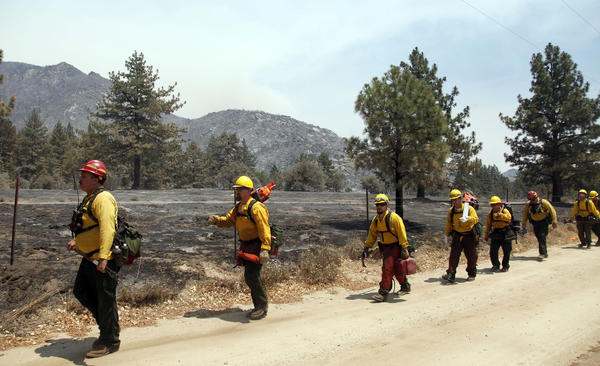 Mountain fire near Idyllwild