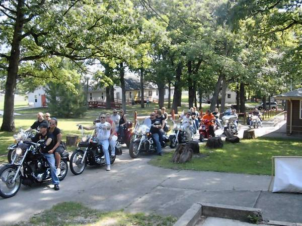 Motorcyclists gather during a previous Shady Oaks Benefit Run, or SOB run. The annual run raises money for Shady Oaks Camp at 16300 Parker Road in Homer Glen, a second home to some 40 kids and adults with physical and mental disabilities. This year's SOB Run is on Sunday, July 28.