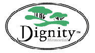 A screen grab of the Dignity Memorial logo.