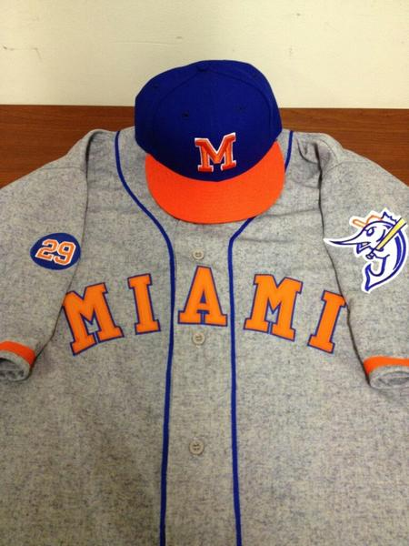 The Marlins on Saturday against the Brewers will wear reproductions of the 1956 Miami Marlins uniforms.