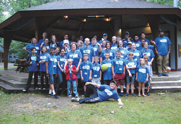Hospice of Washington County recently hosted its second annual Hope 'n Cope at Shepherd's Spring Outdoor Ministry. Picture are, front row, Jonathan Sprock; first row, from left, Joseph VanderBos, George Sprock, Noah Foltz, Cody Wolfe, Gage Crawford, Ally Foltz, Jessica VanderBos and Ameerah Rouzee; second row, Lanae Watland, Chelsea Royce, camp Director Robin Morris, Sixta Miranda, Jaime Morgan, Theresa VanderBos, Matthew Berry, Krista Mills, Jeanine Auberton, Maggie Terry and Kathy Persinger; third row, Shelley Steiner, Kiana Keier, Meghan Lancaster, Emily Harris, Janis Williamson, Sean Shorten, Molly Lancaster, Vickie Sterling, Cheyanne Wilfong and Kim Schwartz; and back row, Steve Shipley, Michael Lancaster, Ronie-Lynn Shabazz, Courtney Harley, Denise McCoy, Melissa Fountain, Ken Stewart, Tim Berry and Joshua White.