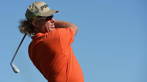 Miguel Angel Jimenez on top Friday at challenging British Open