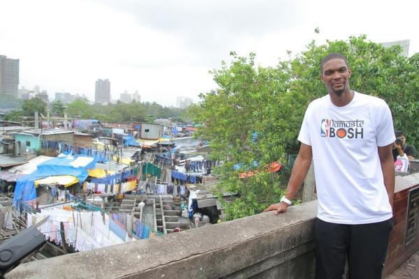 Chris Bosh recently spent four days in Mumbai as a special emissary of the NBA. (NBA Entertainment)