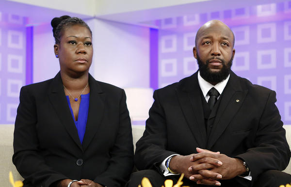 "The parents of Trayvon Martin, Sybrina Fulton, left, and Tracy Martin, appear on the ""Today"" show in New York."