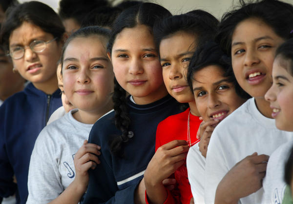 A survey in 2011 found that the predominant method of measuring whether or not students are gifted is assessing their performances in both an IQ test and a standardized academic test. Above: Students at Jackson Elementary School in Santa Ana.