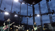 Rain delay for Pearl Jam at Wrigley Field