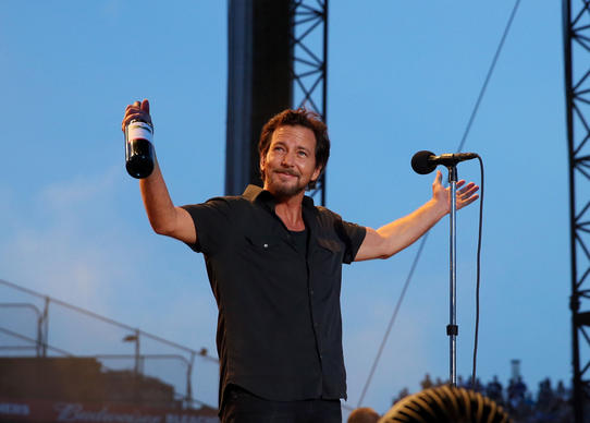 Eddie Vedder and Pearl Jam perform on Friday at Wrigley Field.
