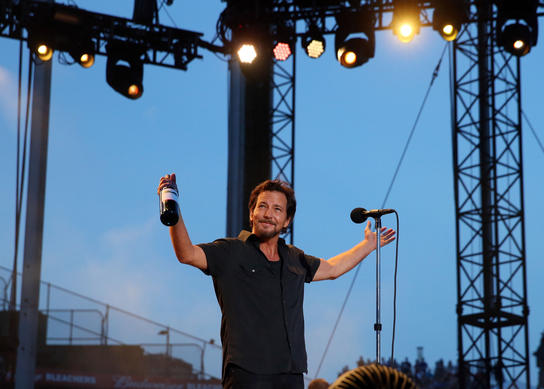 Eddie Vedder And Pearl Jam Perform On Friday At Wrigley Field