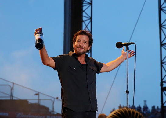 Eddie Vedder and Pearl Jam perform on Frid