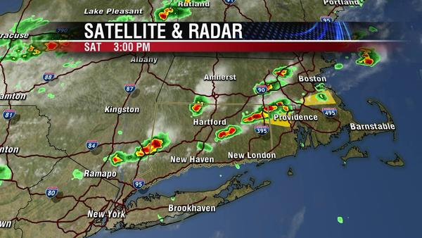 Fox CT radar shows storm pockets across the state of Connecticut.
