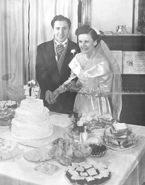 Tom and Peggy Arcidiacono were married Oct. 16, 1948, and honeymooned on a dude ranch and went deep-sea fishing in New York.