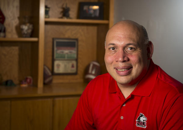 Sean Fraizer, the new athletic director at Northern Illinois University, at his home in Fitchburg, Wisc.