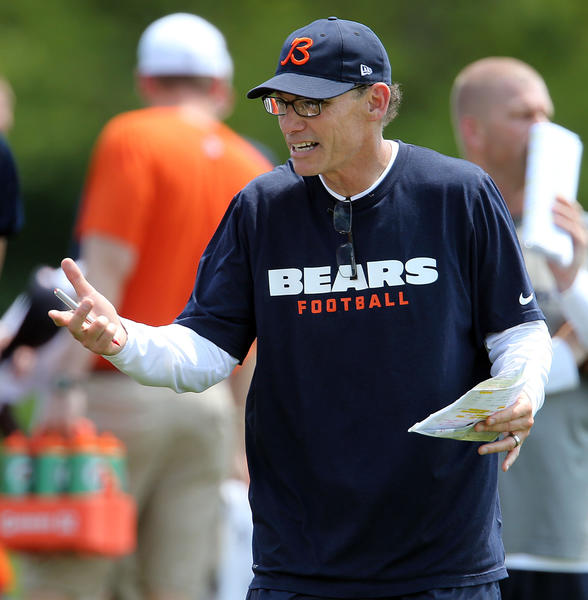 Bears coach Marc Trestman at minicamp in June.