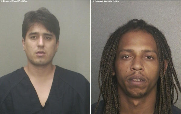 From left, Fabian Suarez, 28, and Carlos Ramirez-Martinez, 23, both of Miami, are accused of trying to burglarize a camera repair store in Lauderdale-by-the-Sea on Friday.