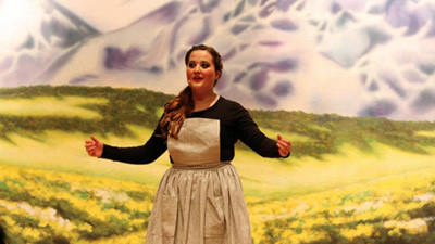 Kira Geary, 17, plays Maria in Somersets school musical, The Sound of Music.